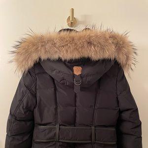 [Mackage] Small - Black Down & Fur Maxi Jada Coat